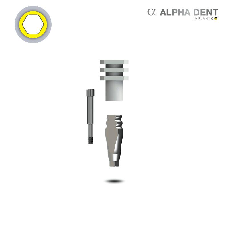 Alpha Dent - Transferpfosten - breite Plattform - konisch