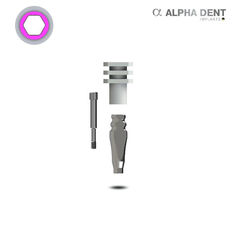 Alpha Dent - Transferpfosten - schmale Plattform - konisch