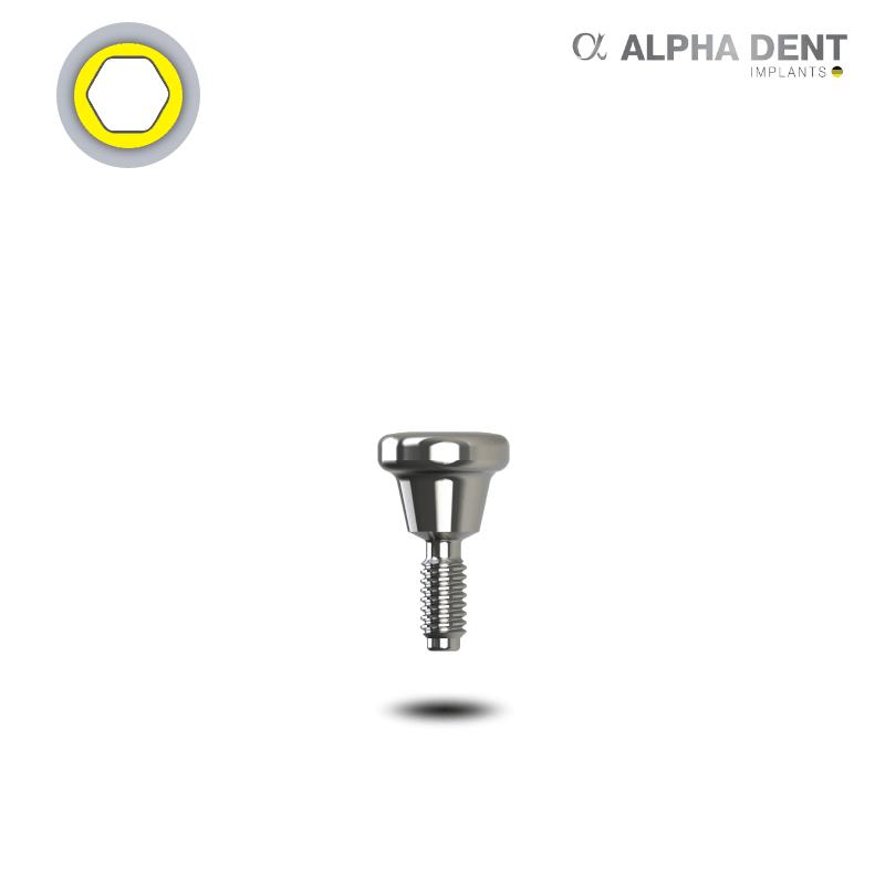 Alpha Dent - Einheilpfosten - breite Plattform - konisch